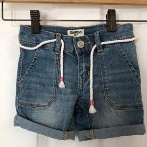 Oshkosh B'Gosh Denim Shorts with Rope Belt Cuffs